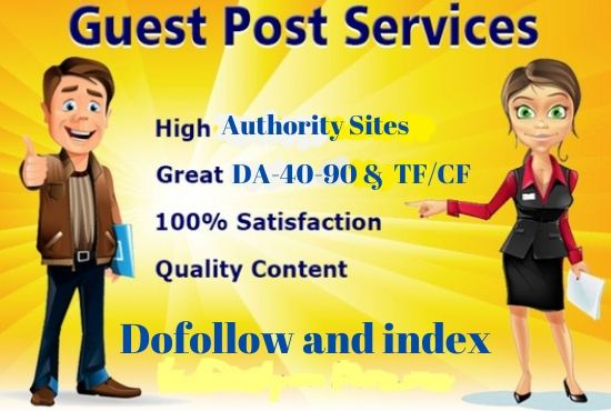write and publish 5 guest post on high da50 to da93 sites for top SEO ranking