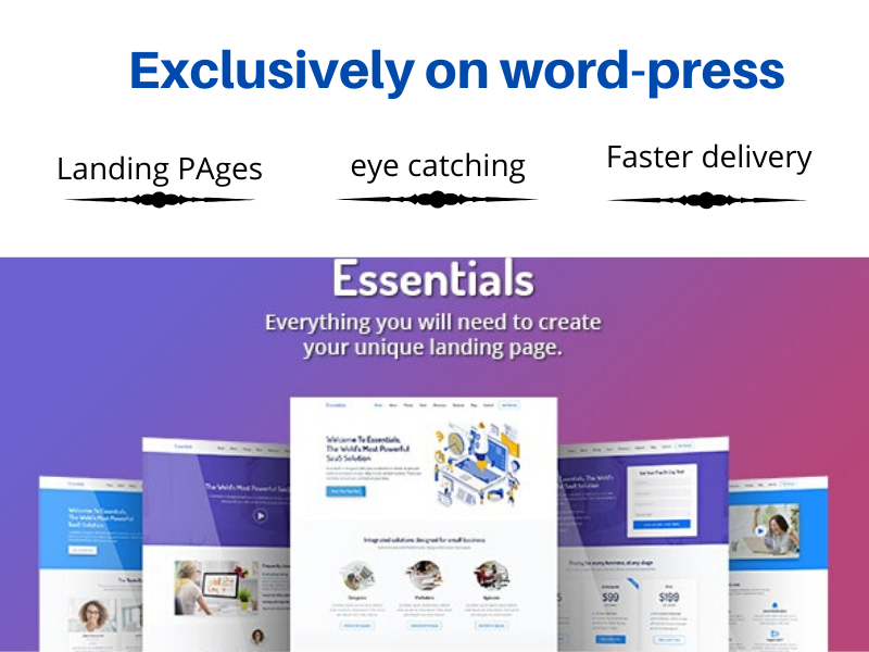 I will design modern homepage or landing page or Blog post Page