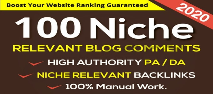 I Will Create 100 Niche Relevant Blog Comments Backlinks On High DA PA