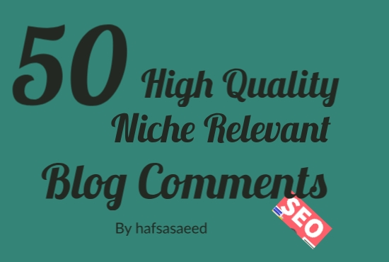I will do 50 niche relevant blog commenting