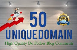 I will provide 50 backlinks unique domain Do follow blog comments