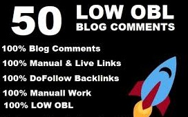 I will do 50 low obl blog comments