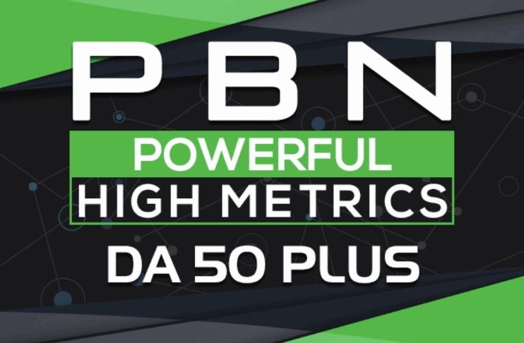 Provide 10 PBN Guaranteed Da 50 plus Unique Backlinks