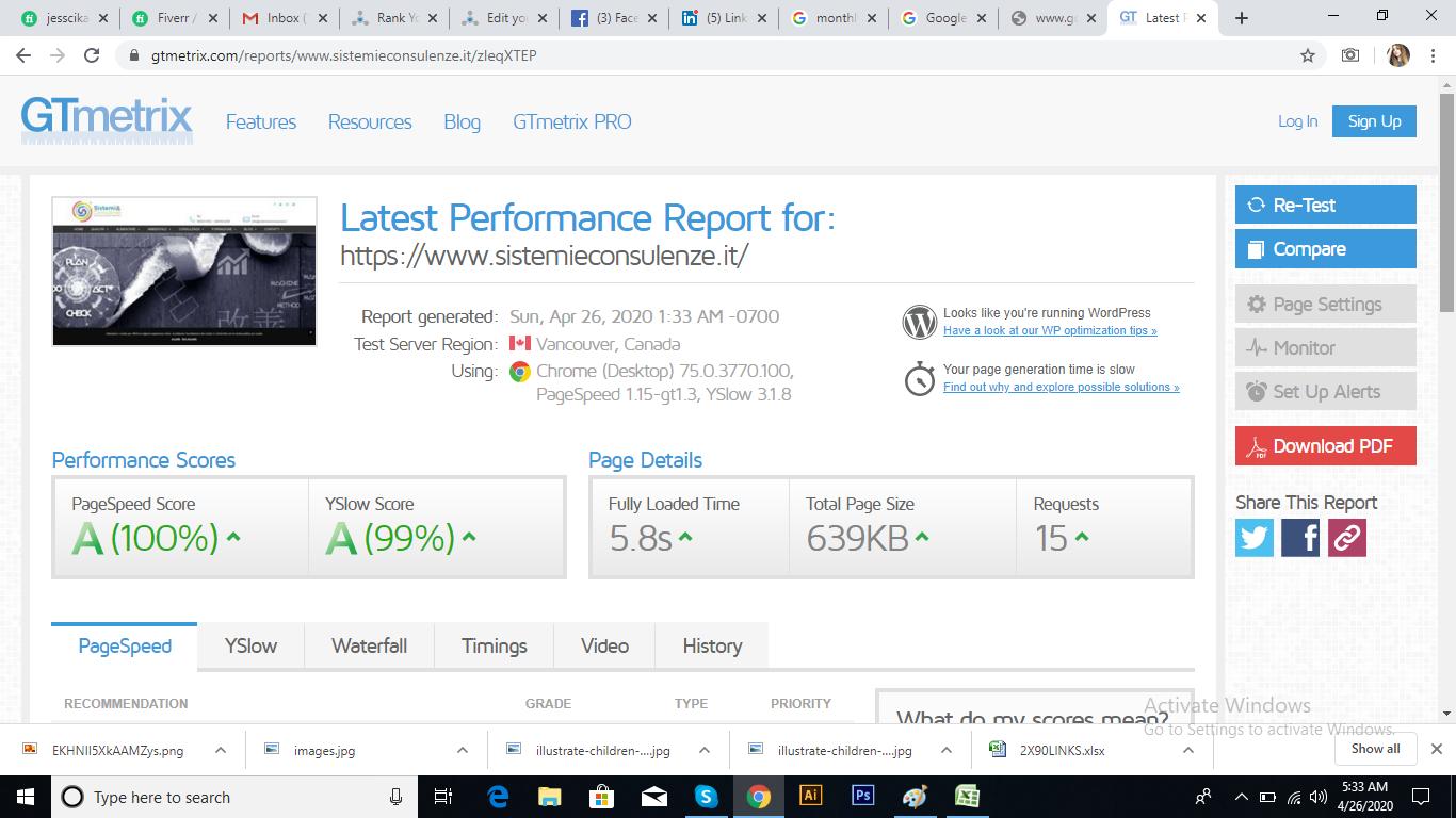 i will speedup your website on GTmetrix