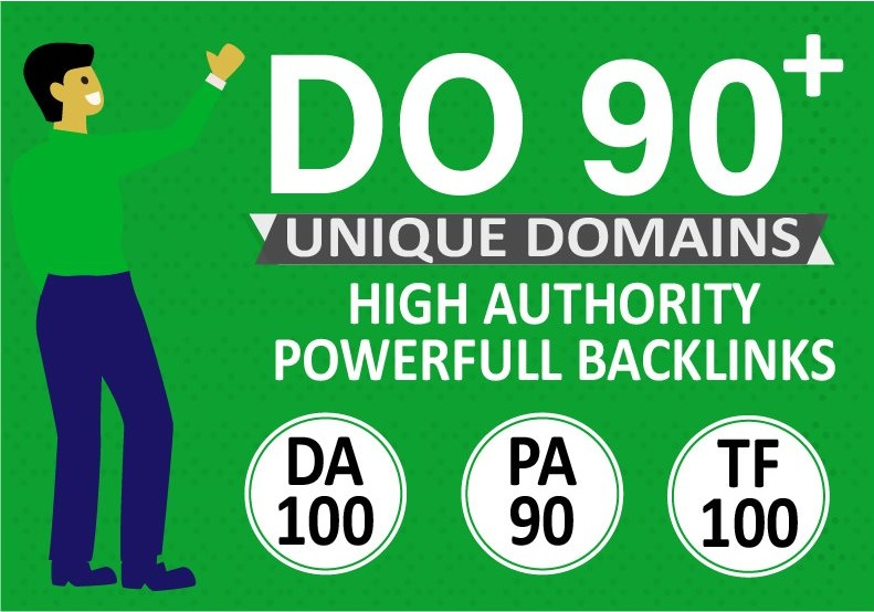 Manually Do 90+ Unique Domains DA 100 Seo Backlinks PR10 sites + Edu Backlinks