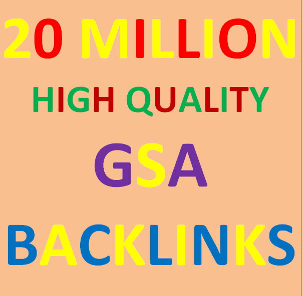20 Millions Backlinks campaign with GSA Ser for ranking
