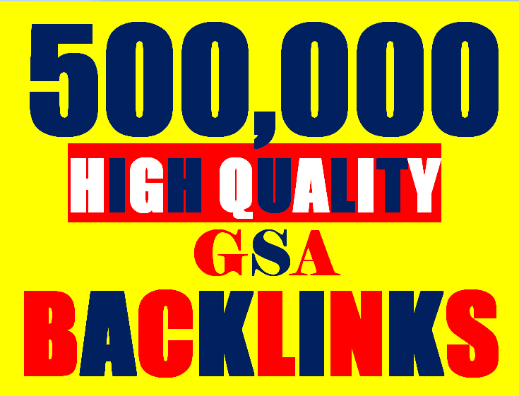 500K Backlinks campaign with GSA Ser for ranking