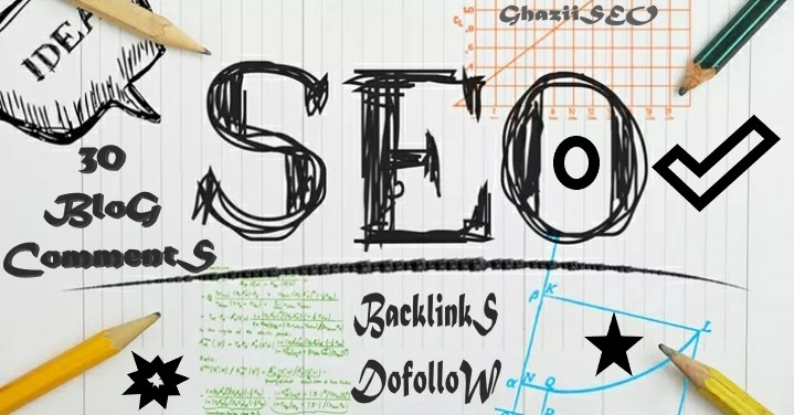 I will 30 unique domains SEO service dofollow blog comments backlinks
