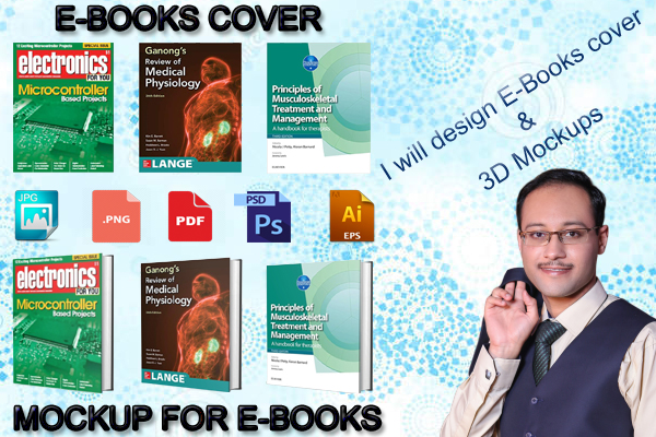 I will design an Eye Catching Ebook or Kindle Cover with 3D Mockup
