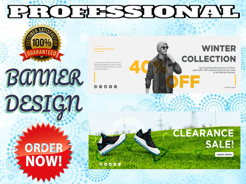 I will design creative banner or banner ads