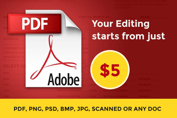 I will edit PDF document for you