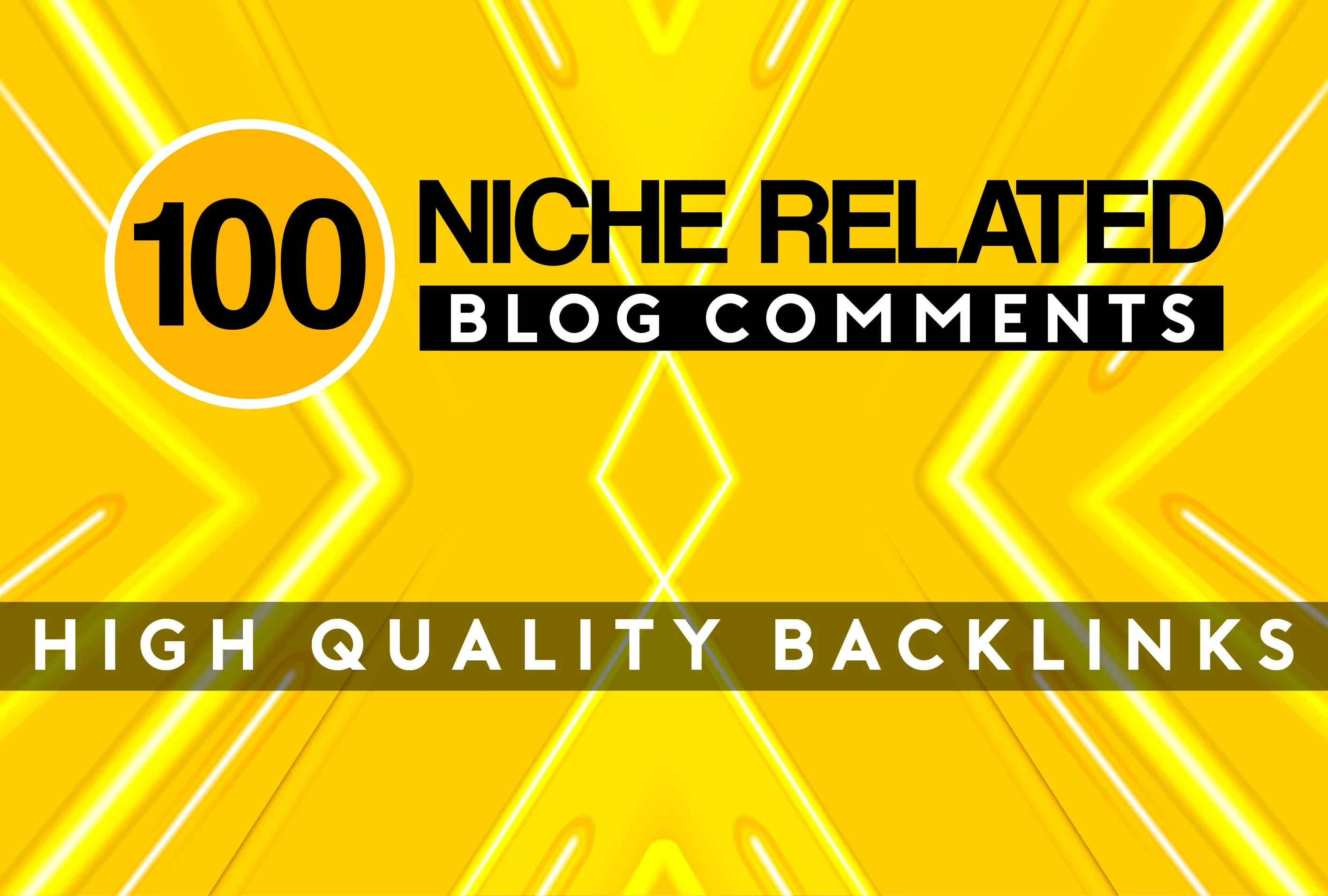 I will provide 100 niche relevant blog comments