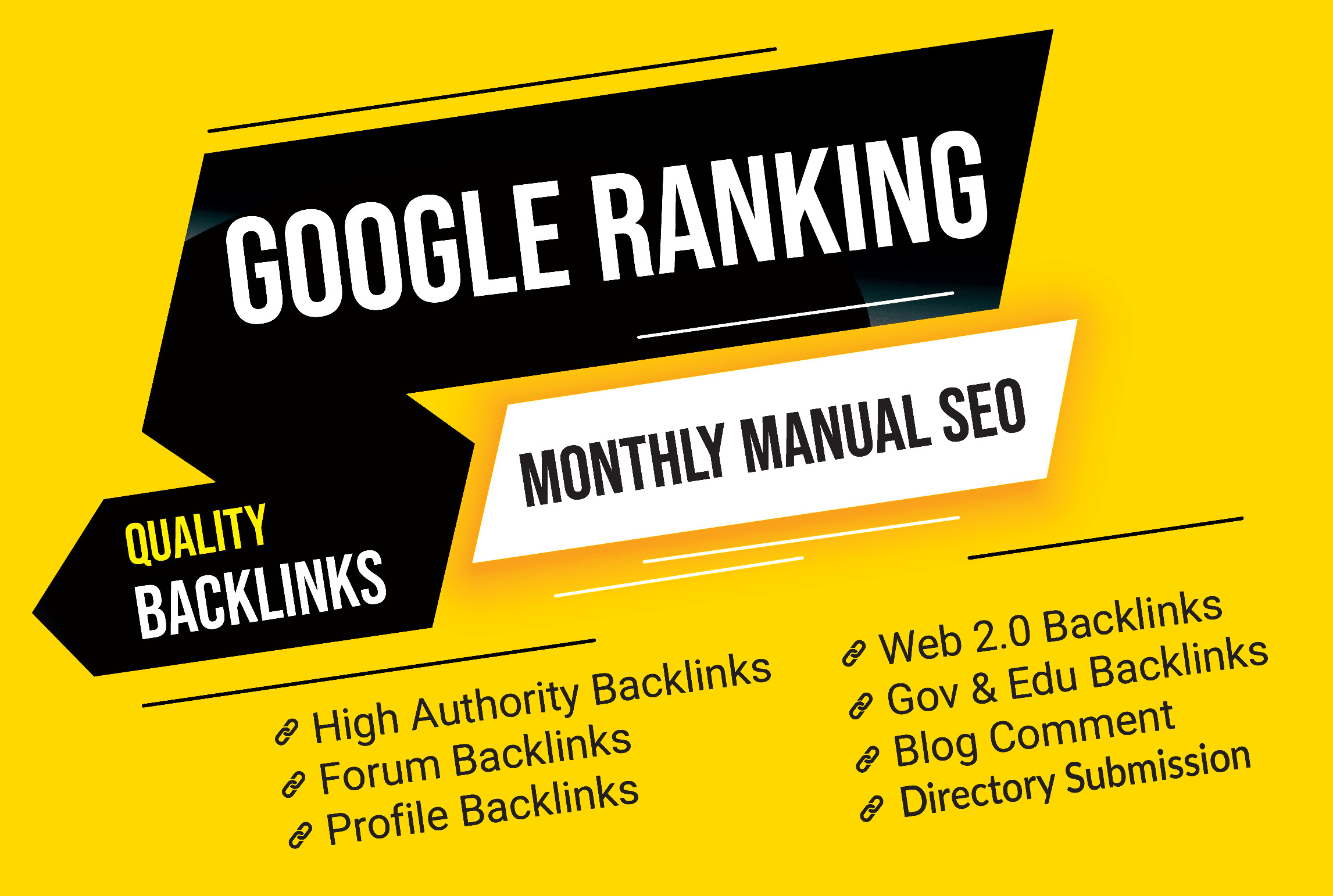 improve your google ranking with manual SEO backlinks service