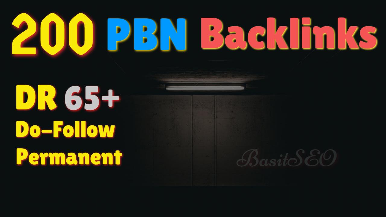 200 Permanent DR/DA 70+ Homepage High Quality PBN Backlink