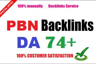 Get 30 PBN Backlinks All DA 70+ websites