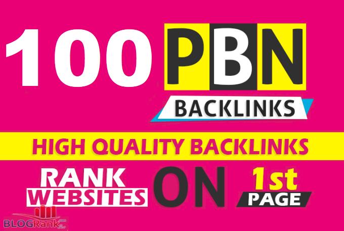 Create 100 Permanent DR/DA 65+ Homepage PBN Dofollow Backlink