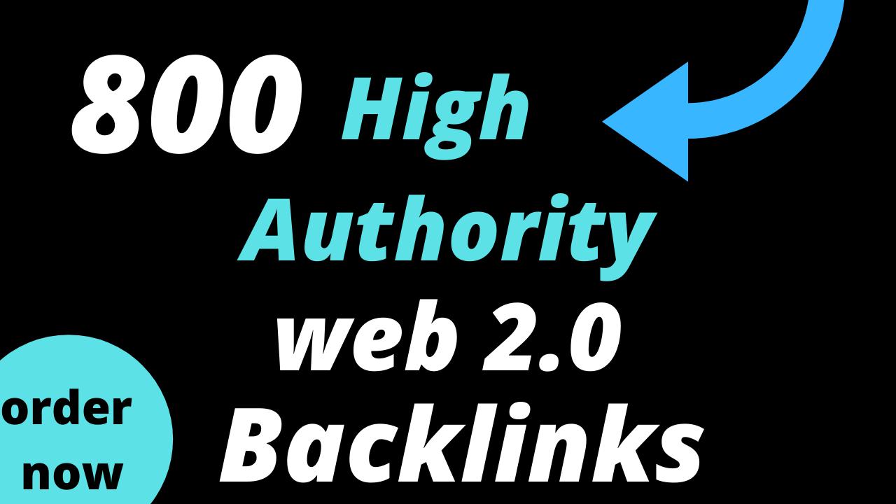 800 web 2.0 profile backlinks for google rankings
