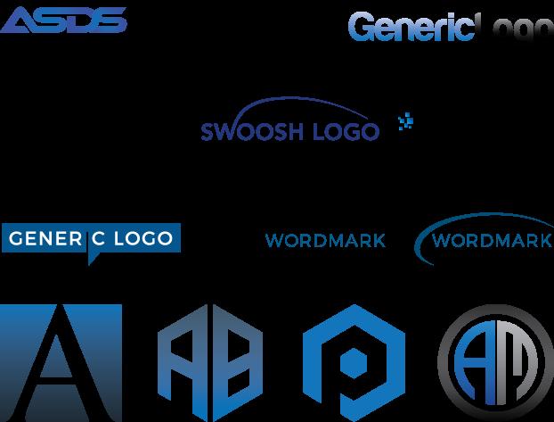 modern Wordmark and lettermark logo only
