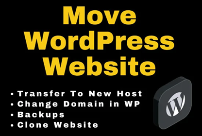 I will move wordpress website to new hosting or transfer wordpress