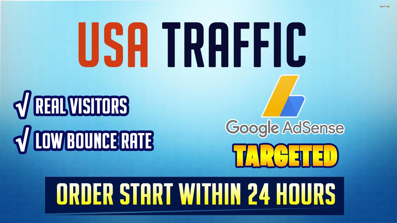 Google Adsense targeted organic USA web traffic