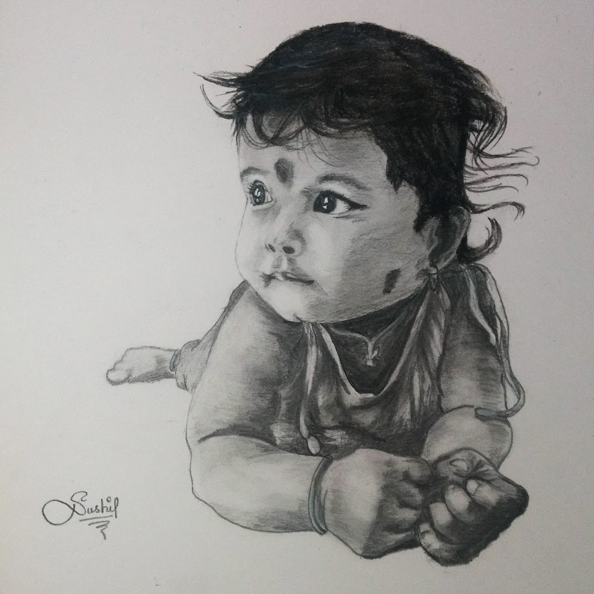 I will draw amazing realistic pencil portrait from a photo