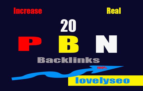 20 Manually Homepage High Quality Speed PBN Backlinks
