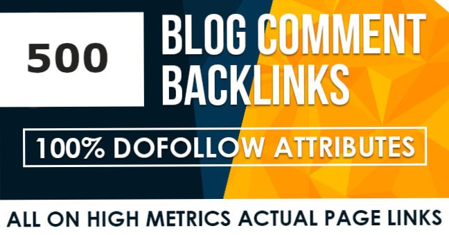 I will do 500 Blogcoments Backlinks dofollow