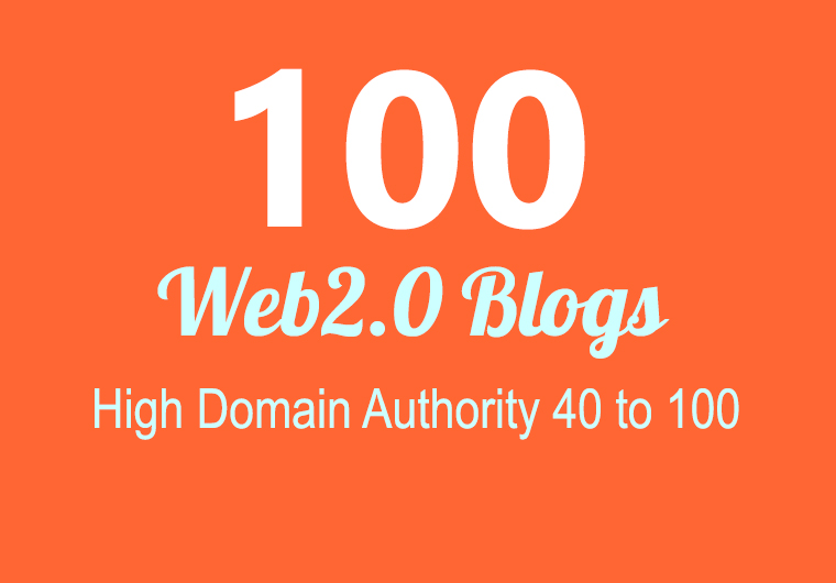 Build 100+ Backlink,  web 2.0 and Dofollow with high DA/PA in your webpage with unique website