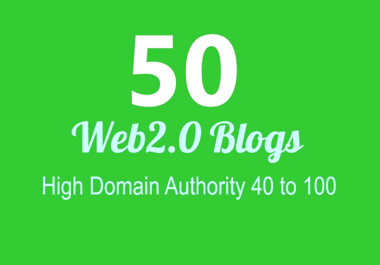 I Will build 50 super web 2 blog that fire SEO rankings
