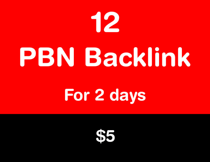 I will provide high authority 12 pbn backlinks