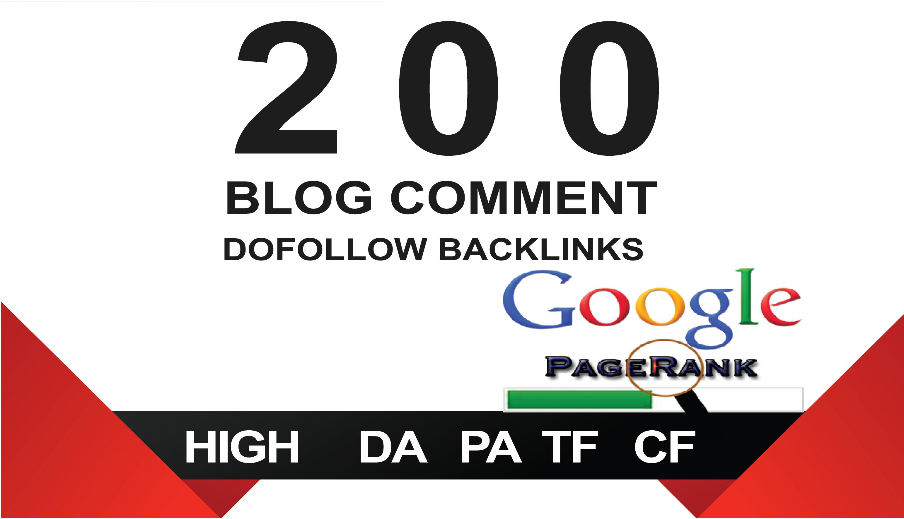 I will provide 200 blog comments backlinks
