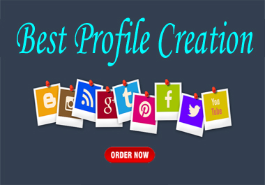 I can do 15 social media profile creation