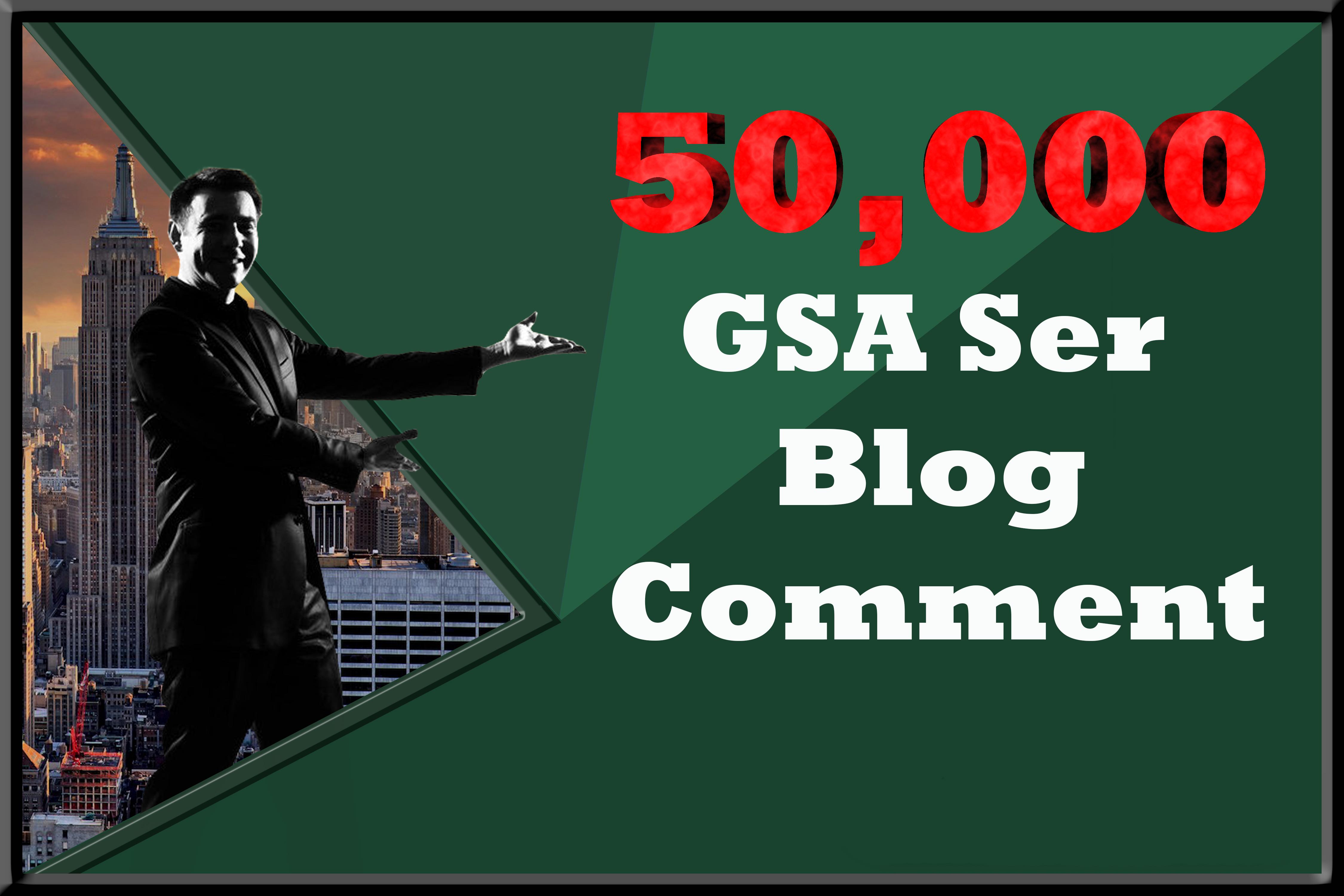 50K GSA Ser Blog Commnt Backlinks