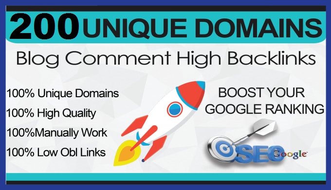I Will Build 200 powerful Backlinks on da Unique Domains