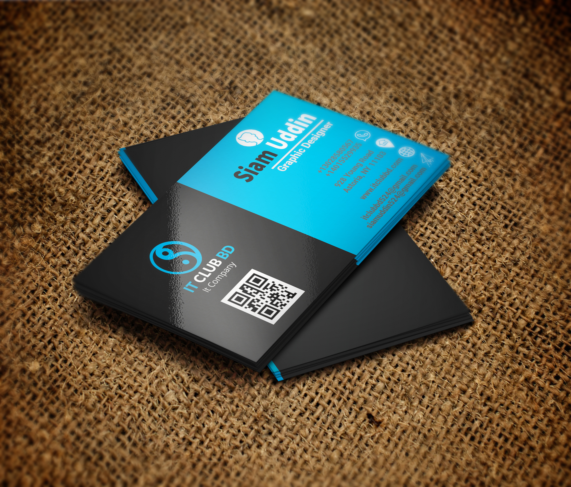 I will do professional business card design 24hr