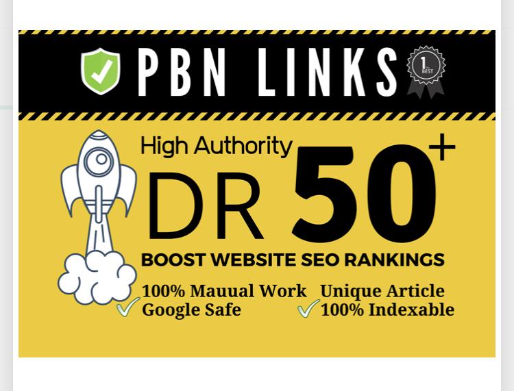 build 100 manual high dr50 plus homepage pbn dofollow backlink