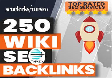 High Authority 250 wiki DA7-30 Backlink on google rank your website