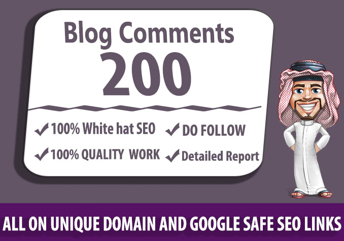 I will submit 200 dofollow blog comments seo backlinks with high da
