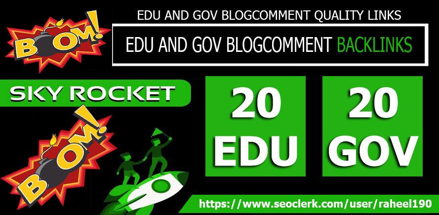 I will do 20edu and 20gov blogcomments backlinks