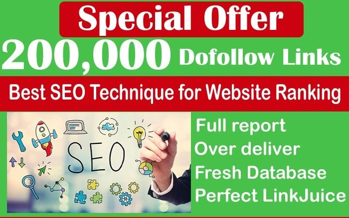 Provide 200,000 Search Engine Optimization Website Ranking Backlinks