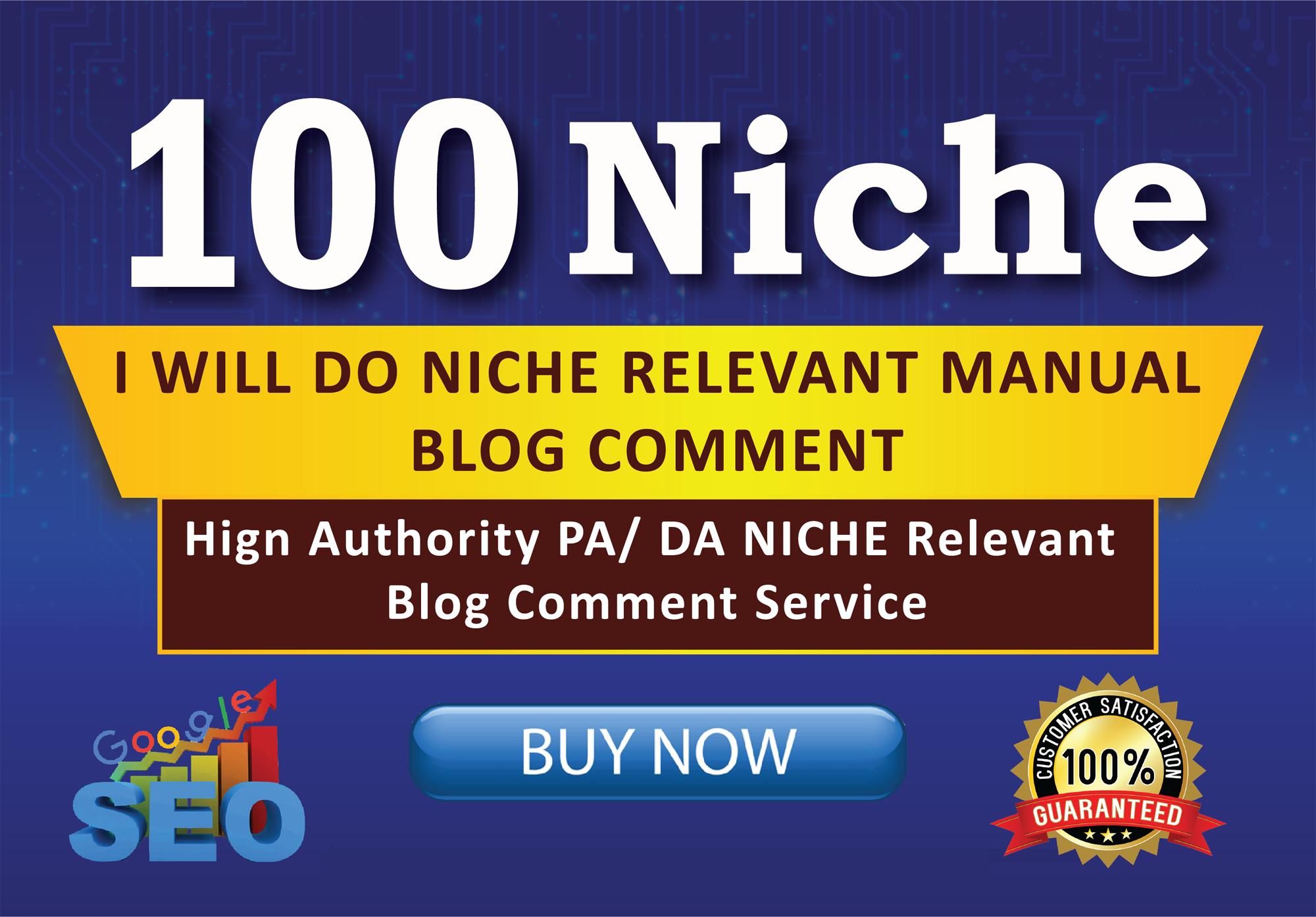 100 Niche Relevant Blog comments