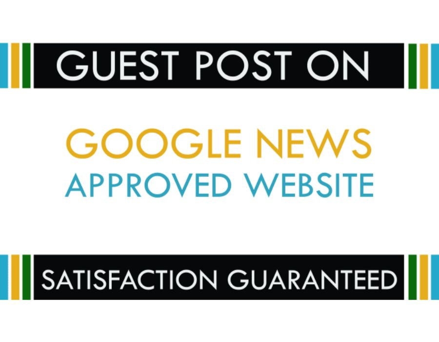 I will do guest post on my google news approved website DA 57 dofolow parmanent post