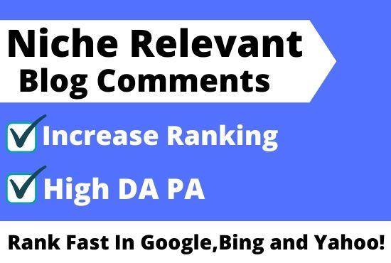I will create 40 niche relevant backlinks with high da