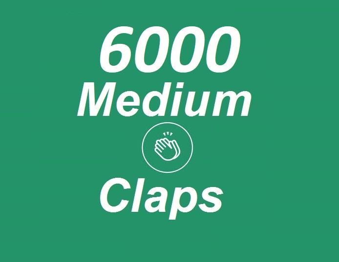 Provide 6000+ Medium Claps on your Medium Article medium