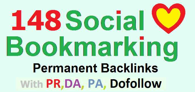 148 Social Bookmarking Panda safe with PR,  DA,  PA,  unique url for higher visibility of your site