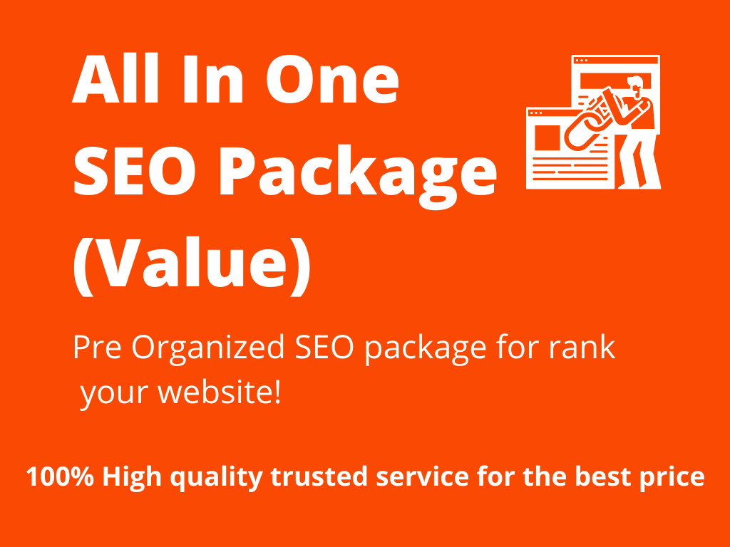 All In One SEO Package Value - Web 2.0 blogs Dedicated accounts - DA Domain Authority 50+etc