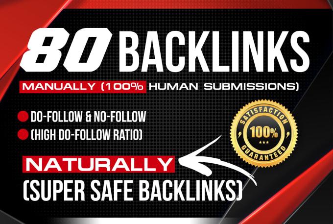 i will create 80 mix backlinks on high da pa