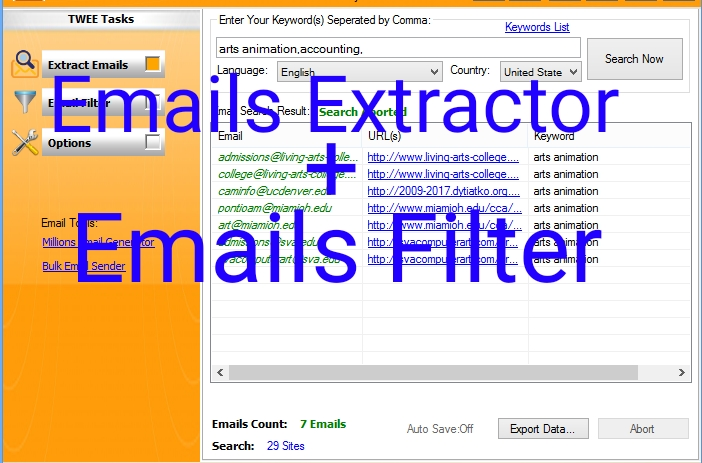 Web Emails Extractor,  Scraper and Verifier