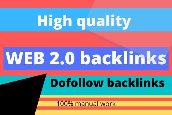 Create 50 high authority web 2.0 profile backlinks service