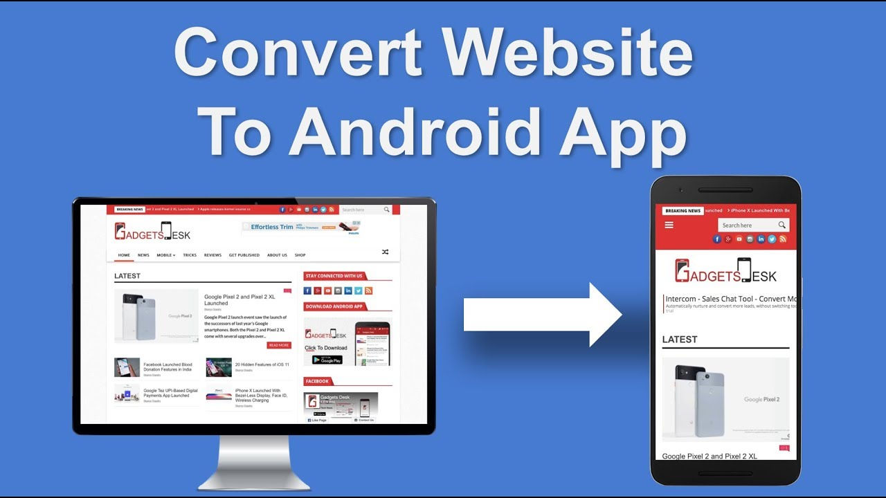 I will convert your website to cool android app